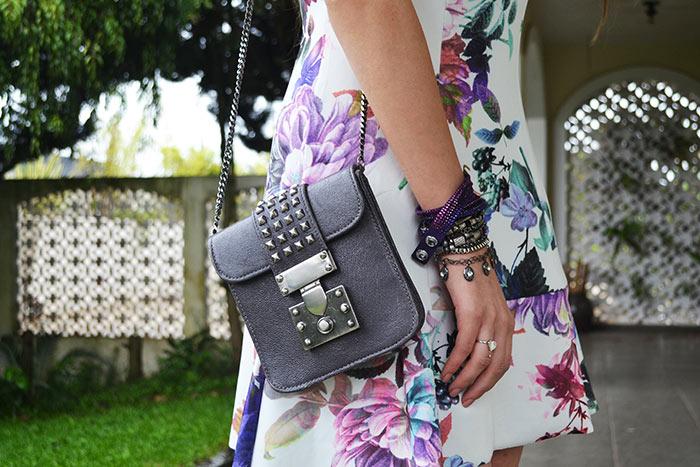 Bolsa com vestido estampado