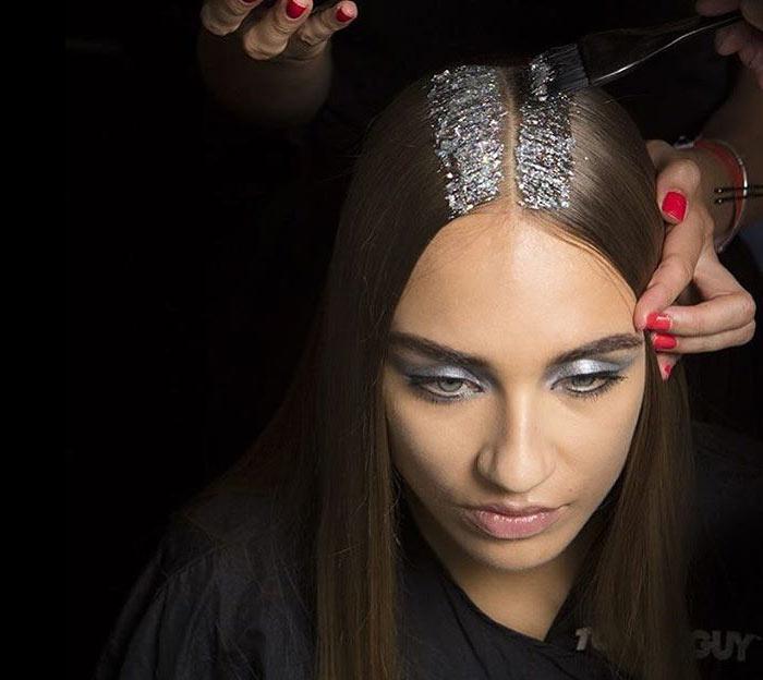 Glitter hair com prata