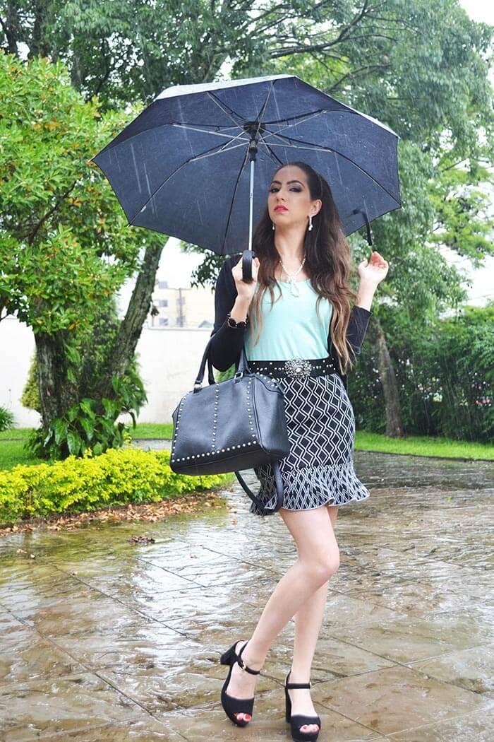 Manu Luize | Look na chuva