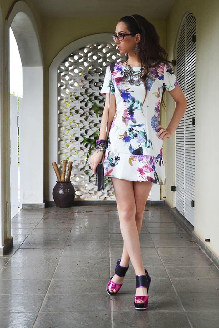 Manu Luize Vestido estampado floral