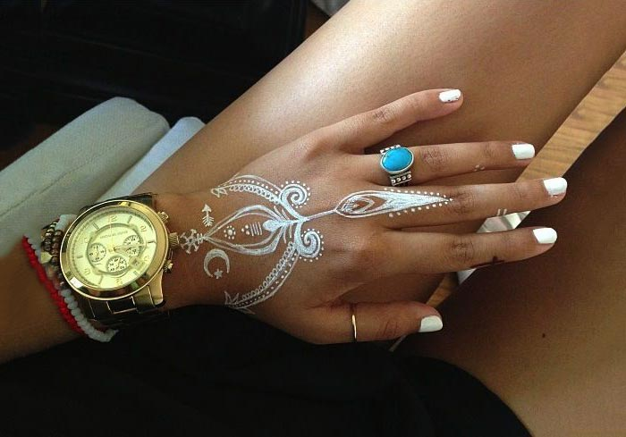 Tatuagem branca - white tattoo