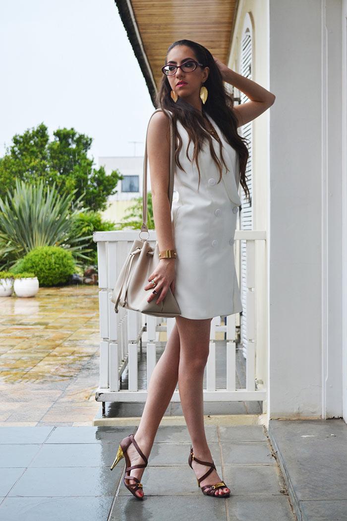 Vestido branco Zaful