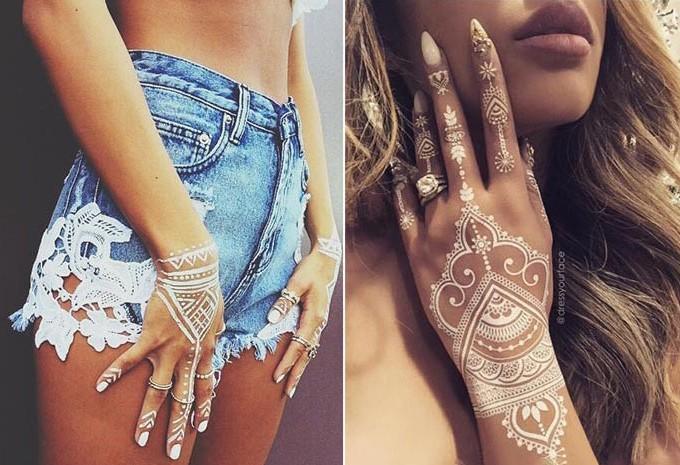 Tatuagem branca: White Henna / Tattoo