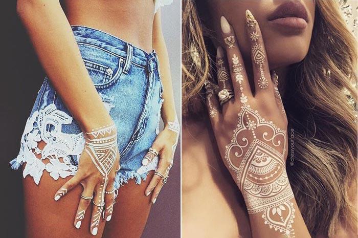 White tattoo - henna branca