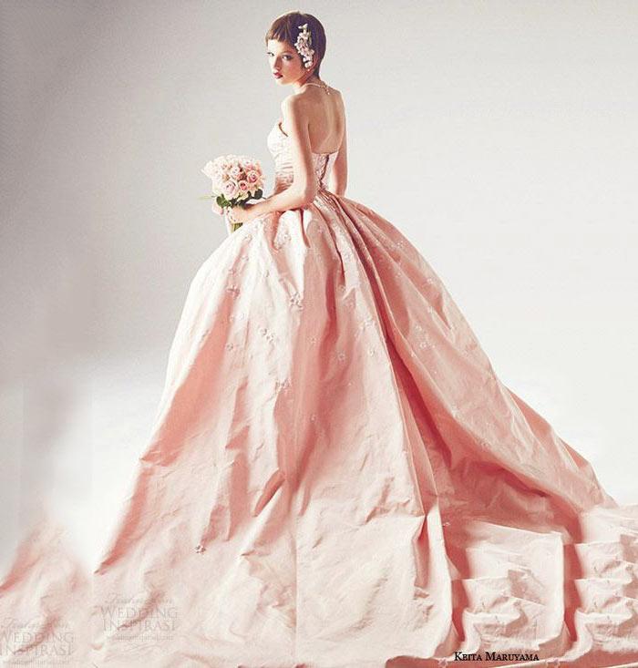 Casamento com vestido rose quartz