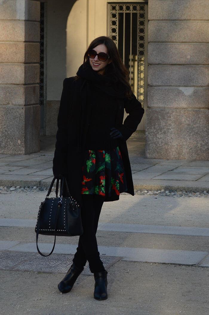 Manu Luize - Look casaco d lã em Milão