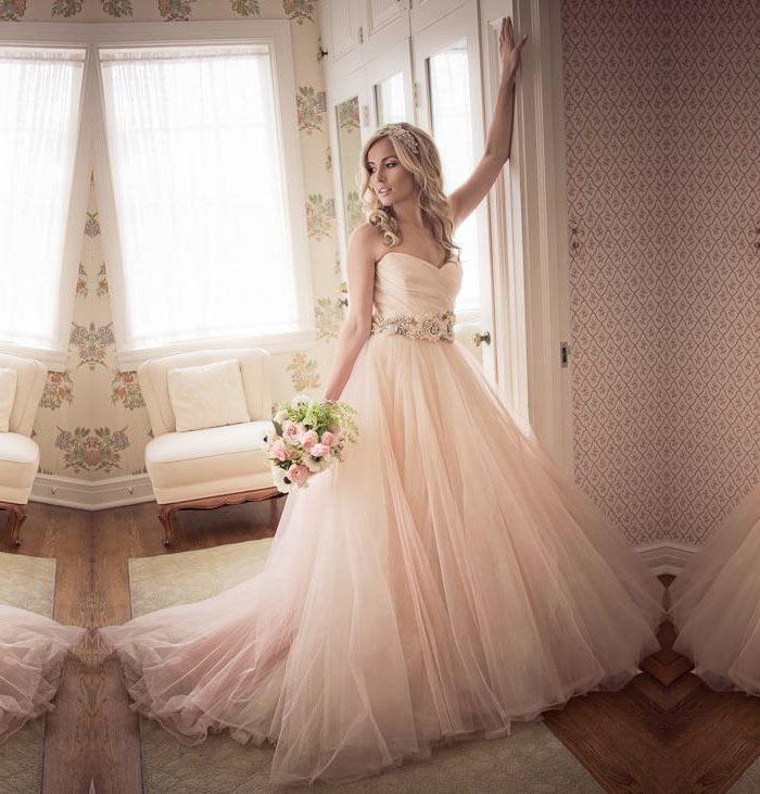Vestido de noiva rosa quartzo