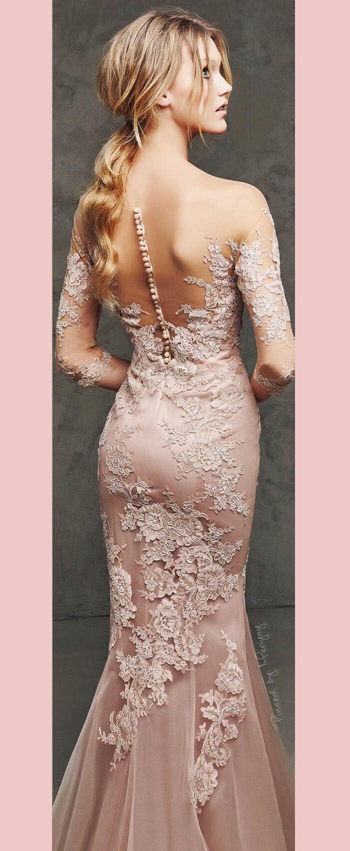 Vestido de noiva em rosa quartzo