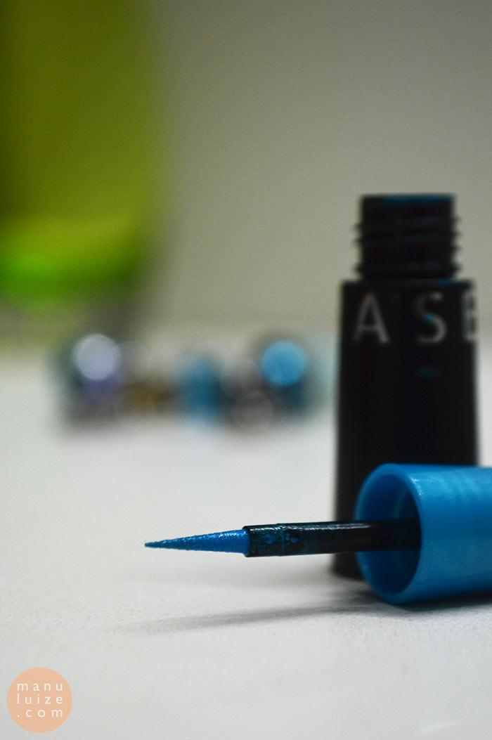 Delineador líquido azul da Sephora