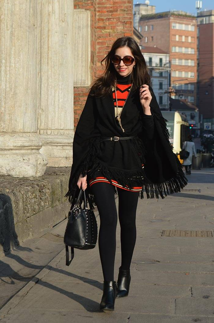 Vestido de lã em Milão