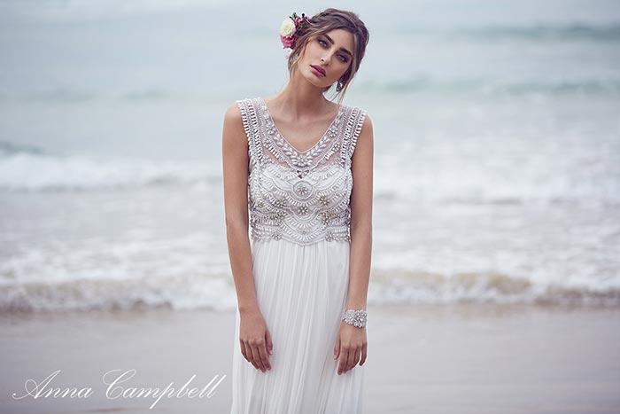 Vestidos de noiva na praia