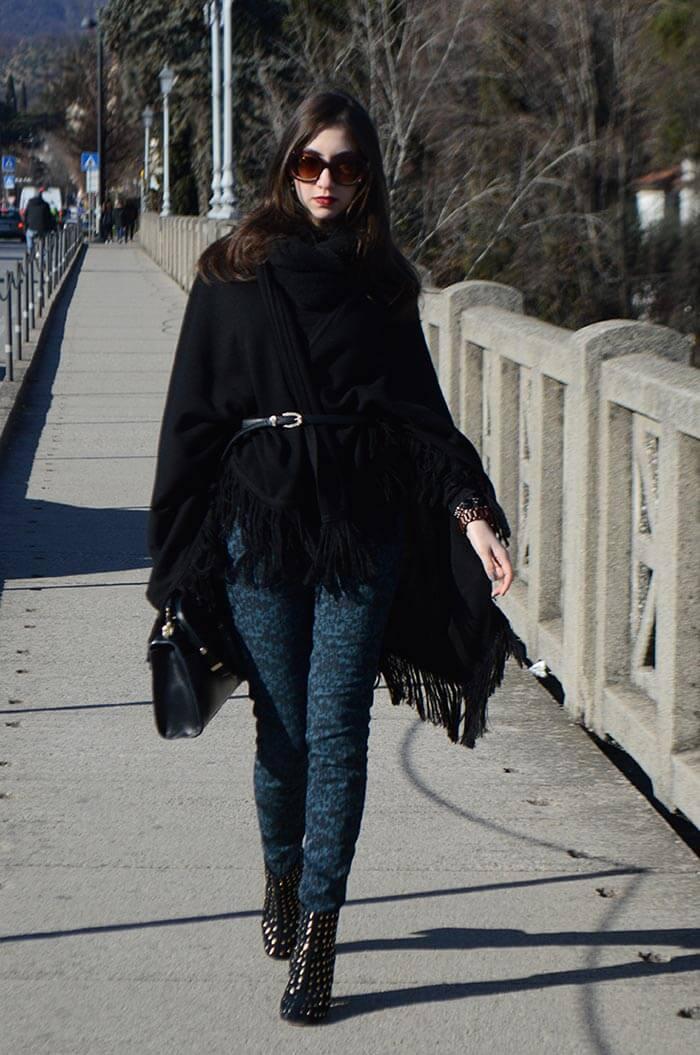 Look com capa para inverno