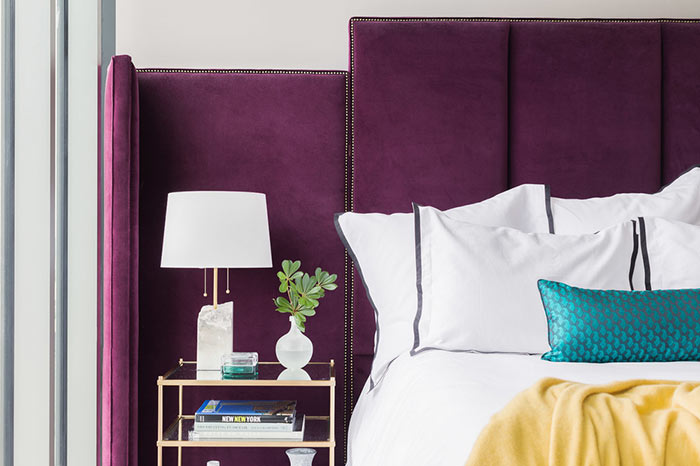 Quarto de Casal - Decoração púrpura