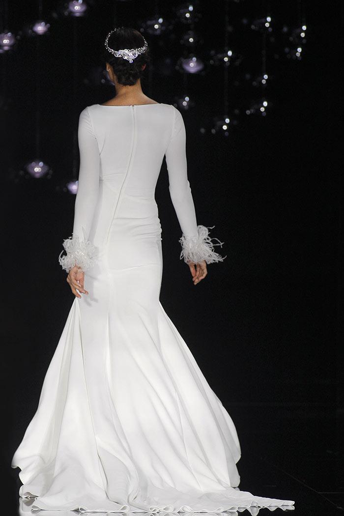 Vestido de noiva com manga longa - Costas