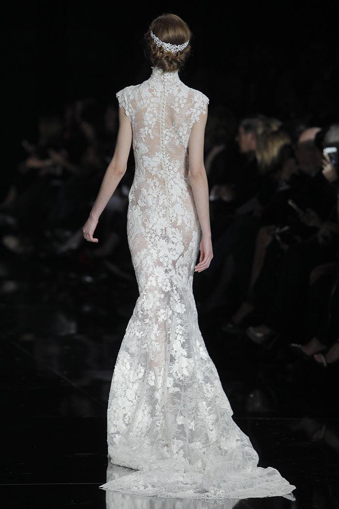 Vestidos de noiva - Inteiro em renda - costas