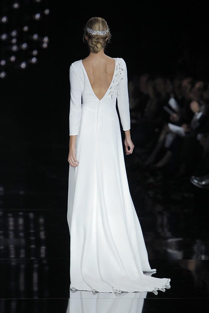 Vestido de noiva manga longa - costas
