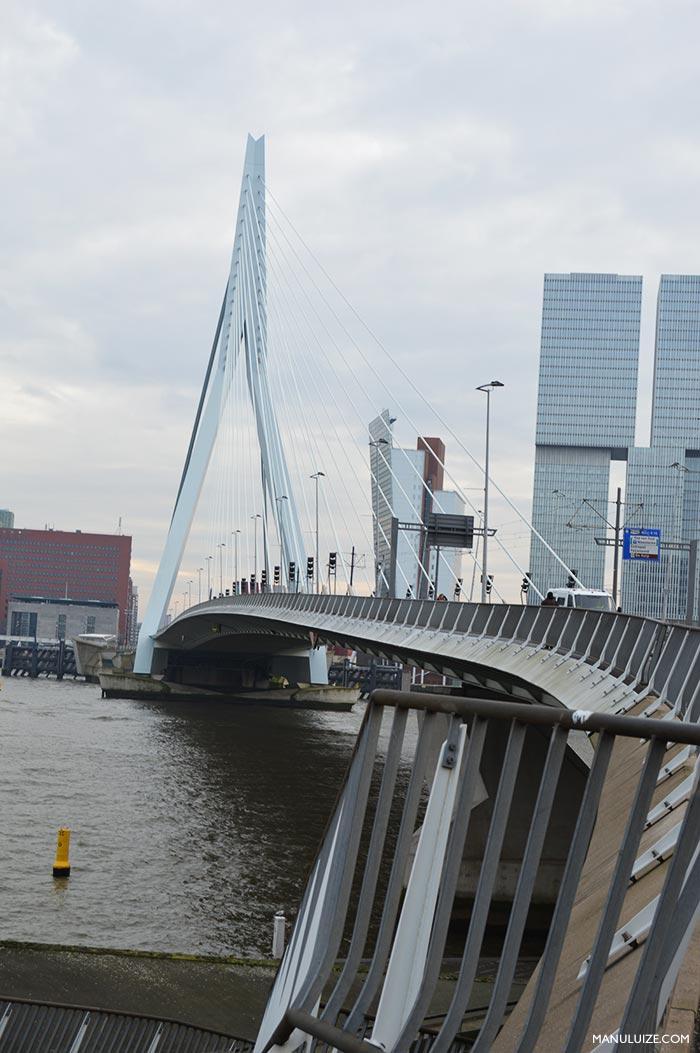 Erasmusbrug (Erasmus Bridge) em Rotterdam