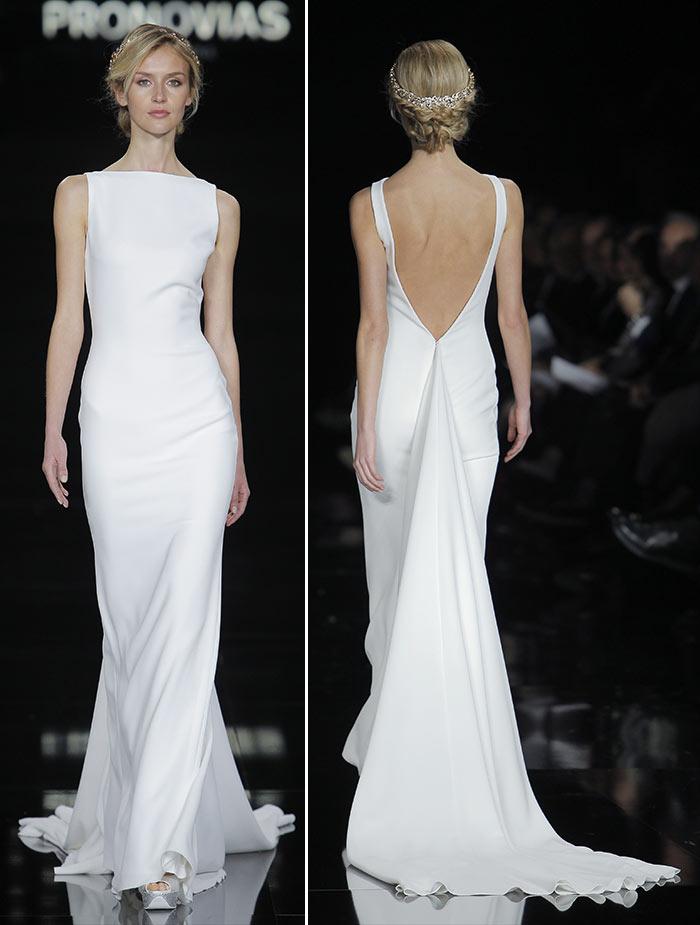 Vestidos de noiva minimalistas