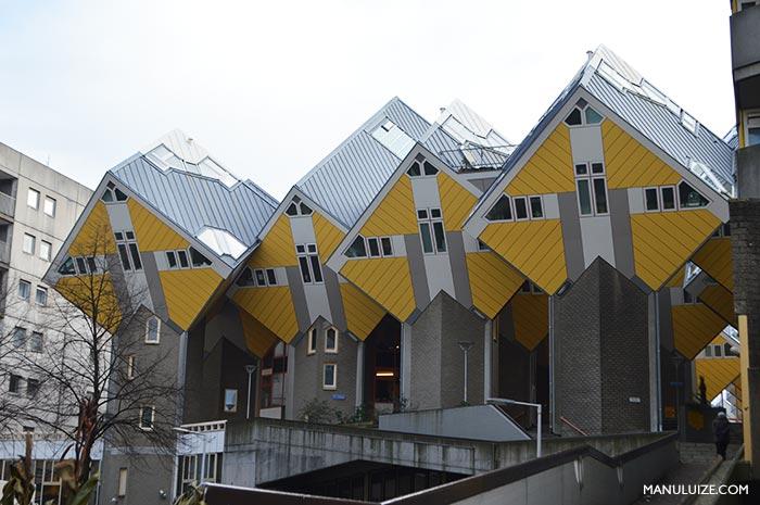As Casas Cubo em Rotterdam