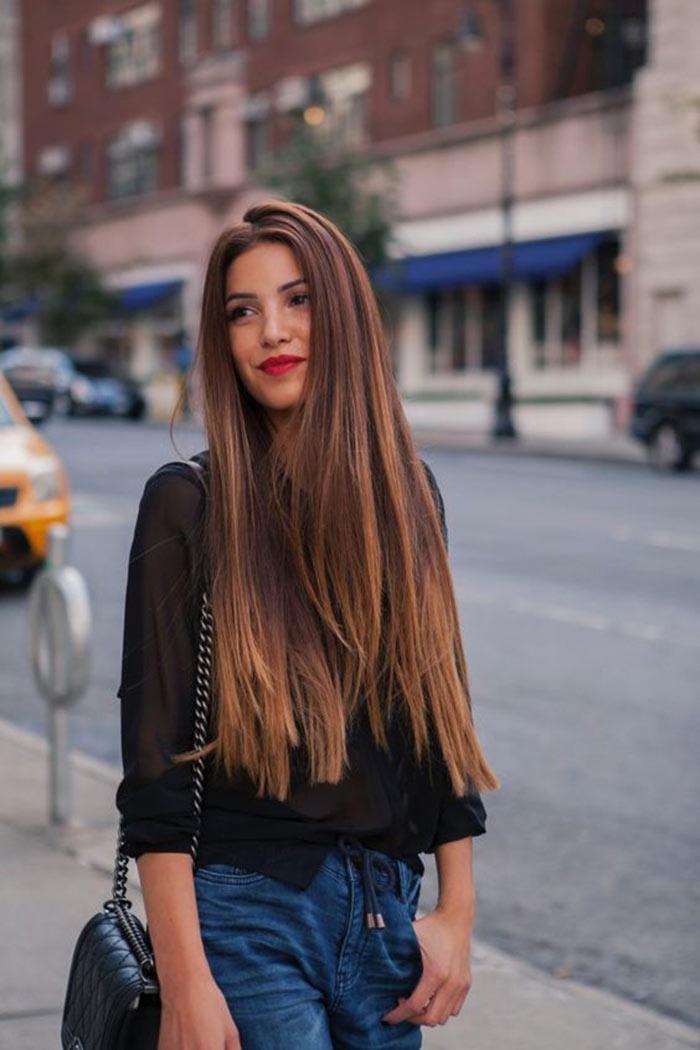 Cortes de cabelo longo liso