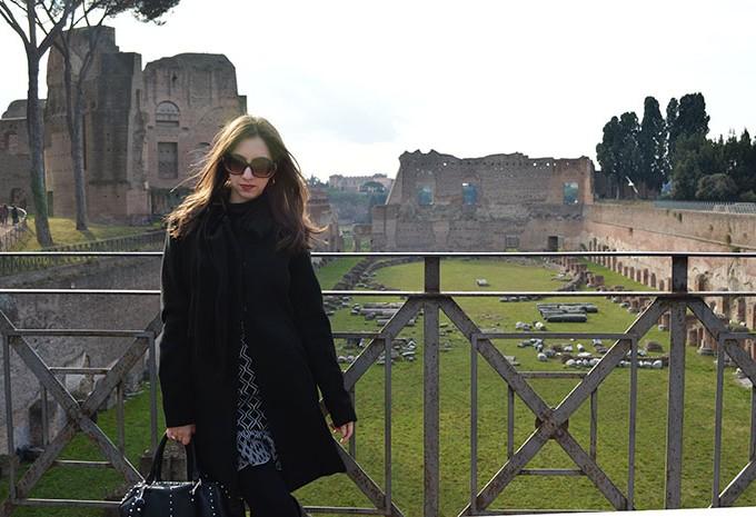 Look de inverno em Roma