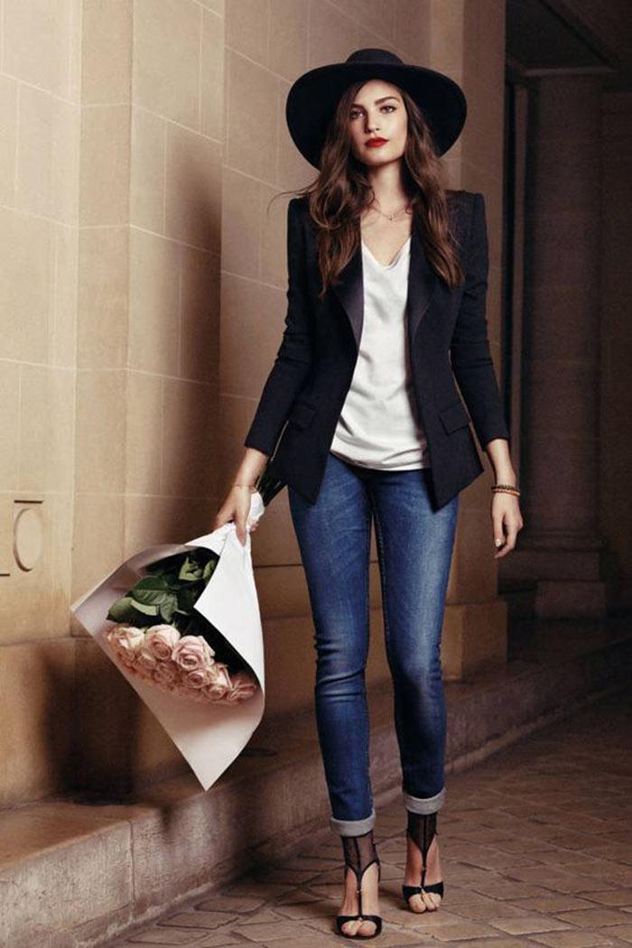 Looks da Moda: Calça jeans e blazer