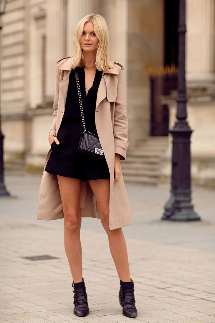 Looks da moda: Vestido e trench coat
