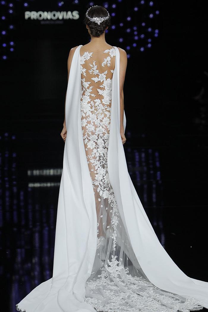 Vestido de noiva costas com renda