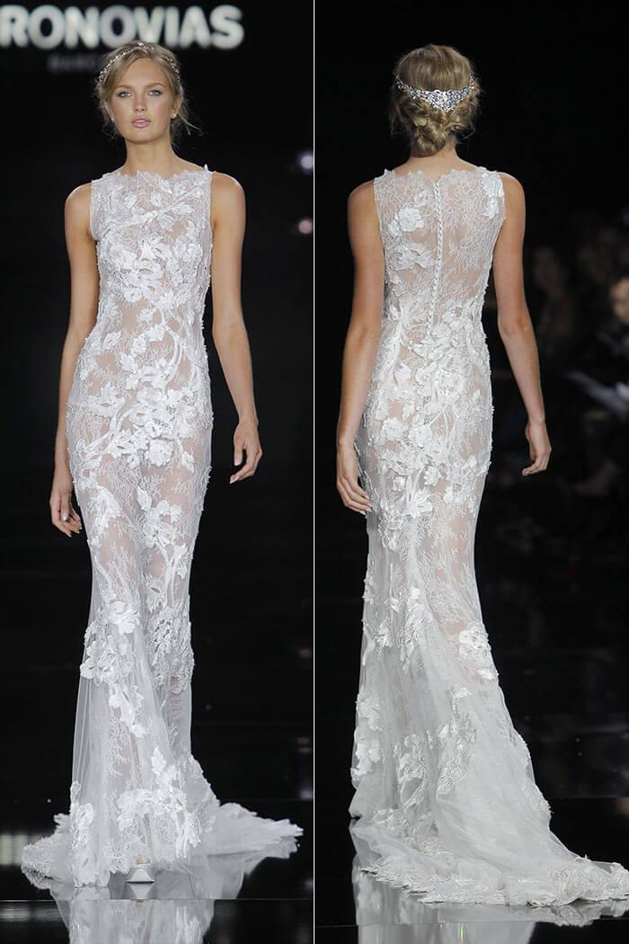 Vestido de noiva transparente