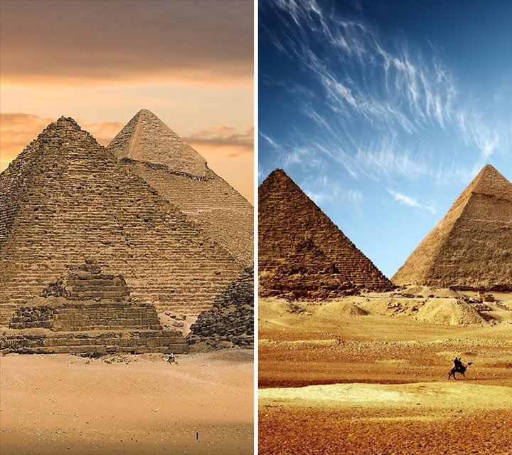 Pyramids of Giza, Egypt.
