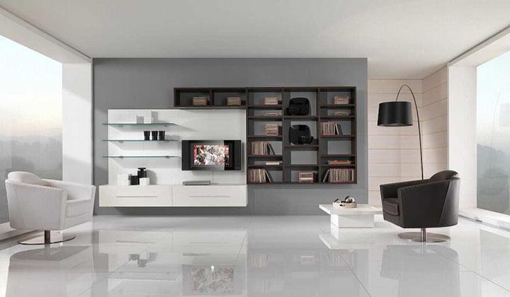 Sala minimalista moderna