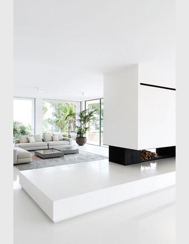 Salas minimalistas em branco