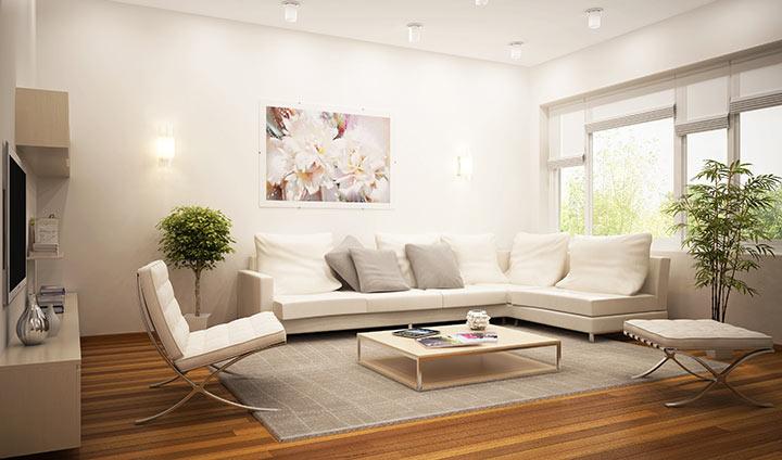 Salas minimalistas: Elegante