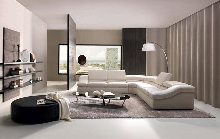 Salas minimalistas de luxo