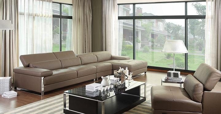 Salas minimalistas moderna