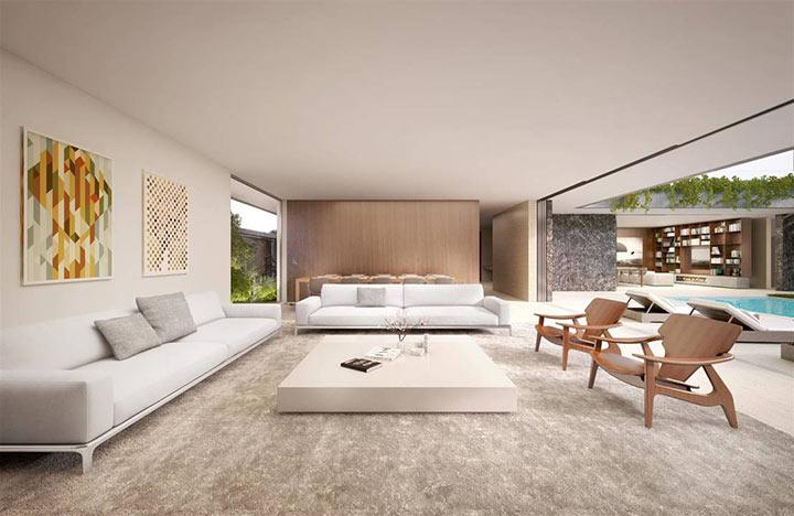 Salas Minimalistas modernas