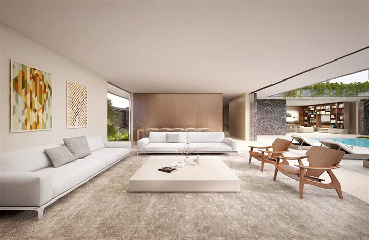 30 salas minimalistas para se apaixonar manu luize for Modelos de casa estilo minimalista
