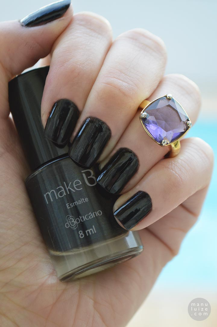 Esmalte preto Black Way - Make B. O Boticário