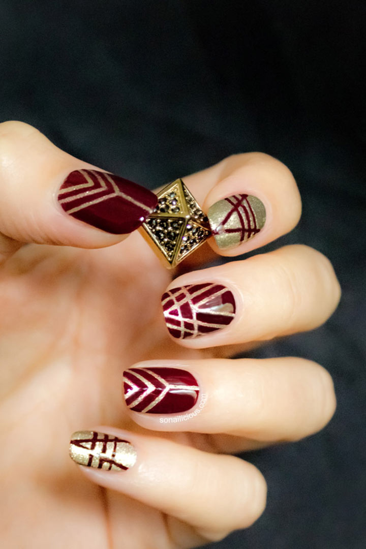 Unhas decoradas Art deco
