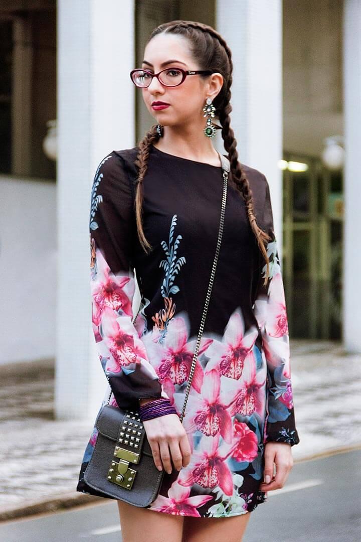 Vestido floral - look Manu Luize