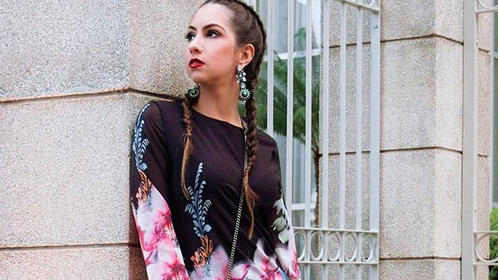 Vestido floral – Look do dia