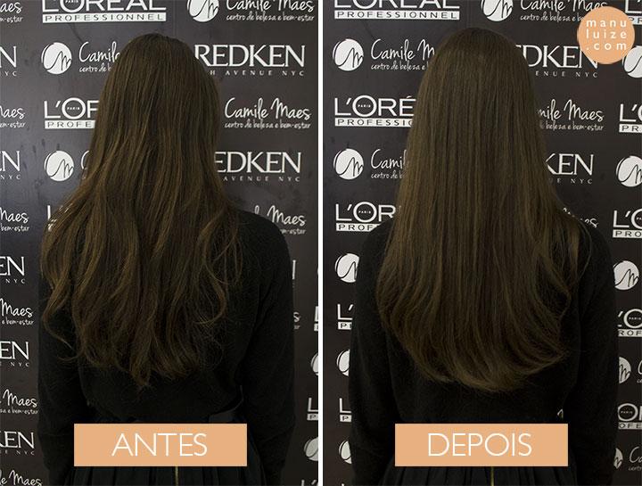 Antes e depois do Brilliant da L'Oréal