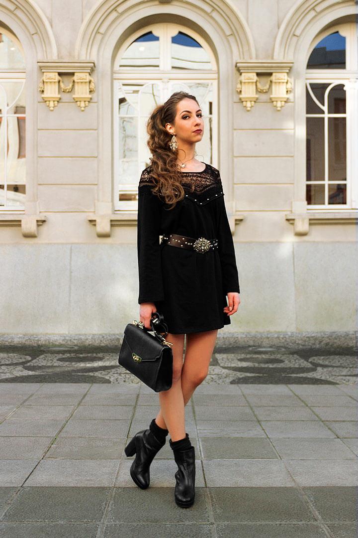 Vestido curto preto - Manu Luize