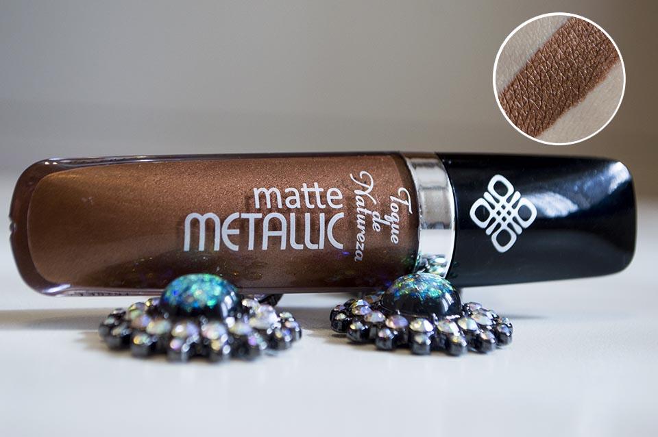 Batom cor 02 Shine Matte Metallic da Toque de Natureza