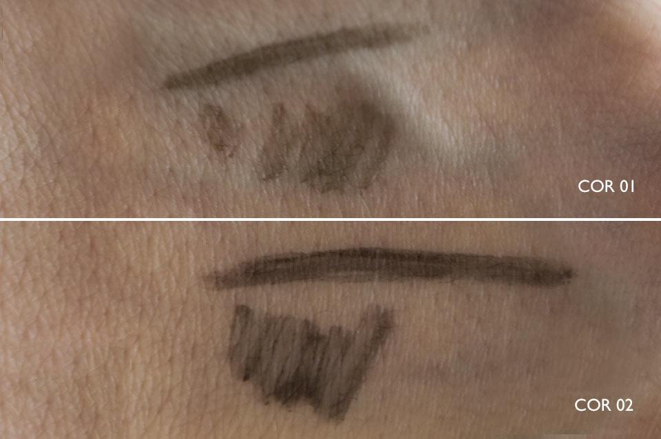 Cores de Caneta para sobrancelhas da Vult