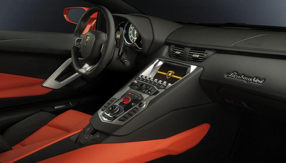 Interior da Lamborghini
