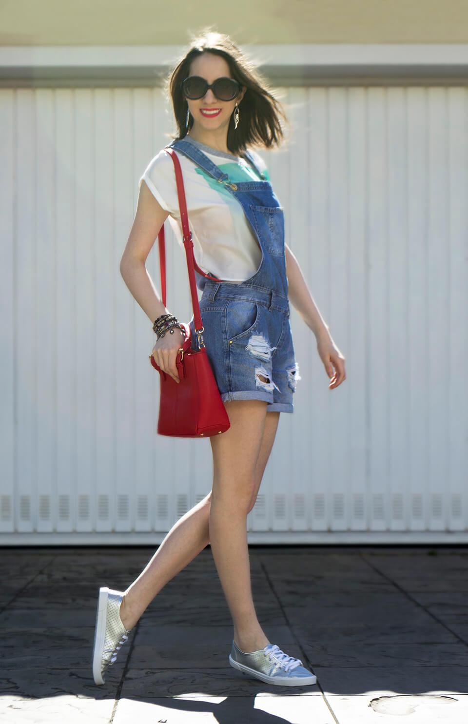 Look com macacão jeans / jardineira