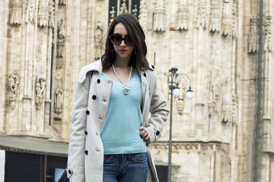 Look para viagem no Duomo di Milão