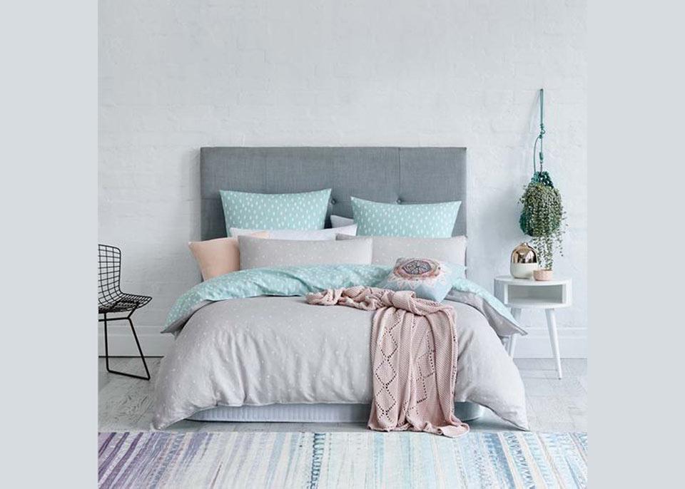 Quartos decorados - azul e rosa