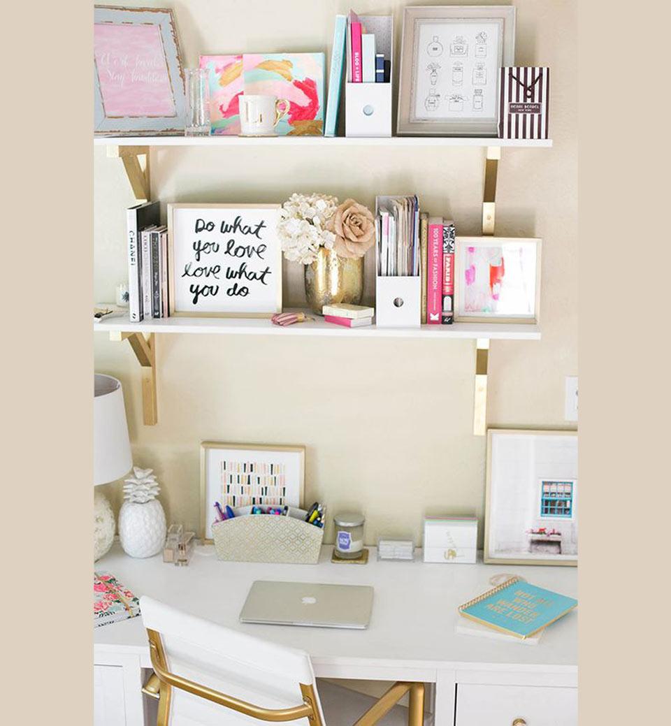 Quartos decorados quadros e livros
